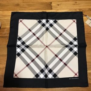 100% Authentic Silk Burberry Scarf 18 X 18 in